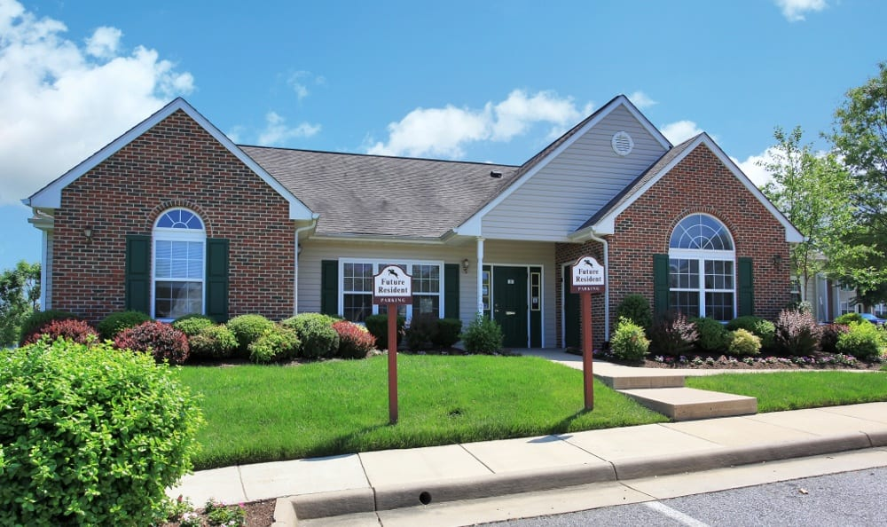 Our leasing office here at England Run Townhomes apartments