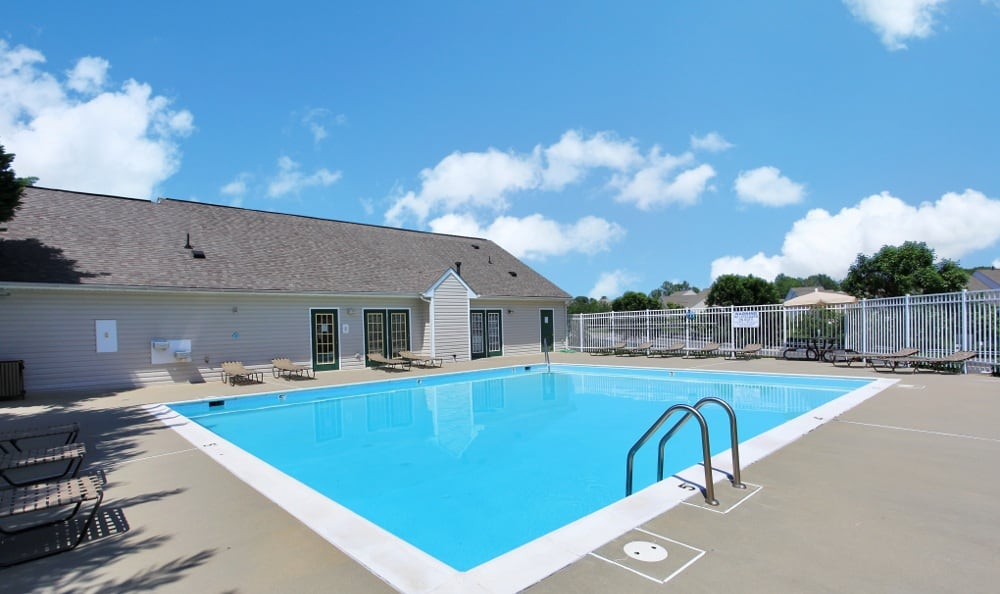 Our Fredericksburg apartments has a sparkling swimming pool