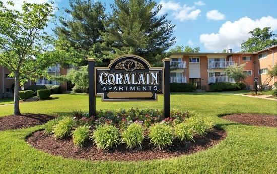 Enjoy the flowers at Coralain Gardens Apartments