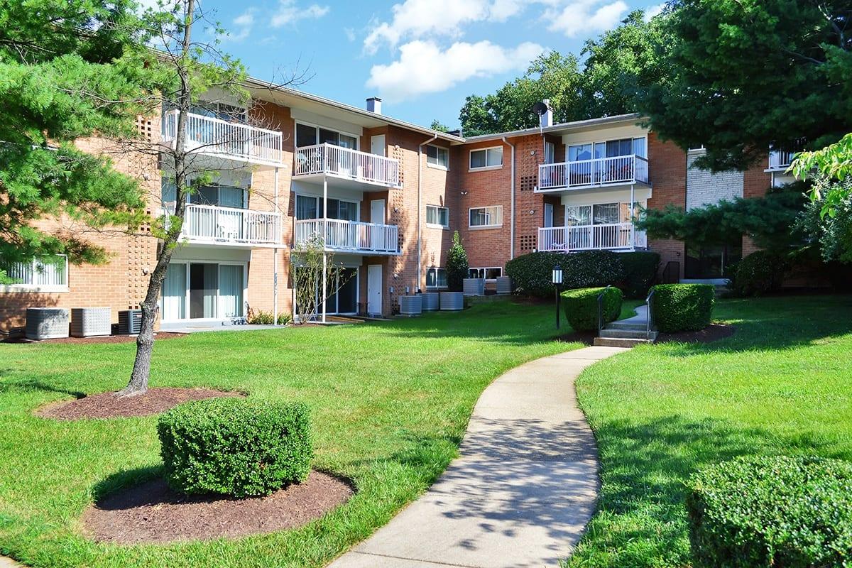 Coralain Gardens Apartments Sidewalk And Landscaping in Falls Church, VA