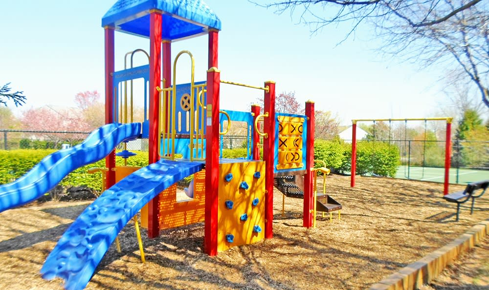 Visit the play structure at Highland Commons with your kids