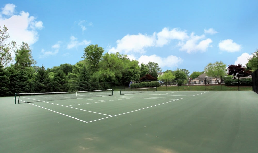 Tennis Court at Apartments for rent at Highland Commons in Warrenton, VA.