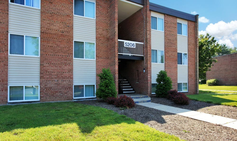 Another view of the exterior at Allentown Apartments in Suitland, MD.