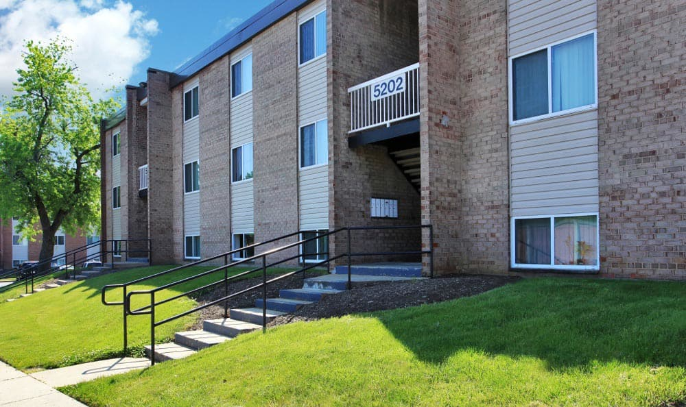 Apartment Entrance at Allentown Apartments in Suitland, MD.