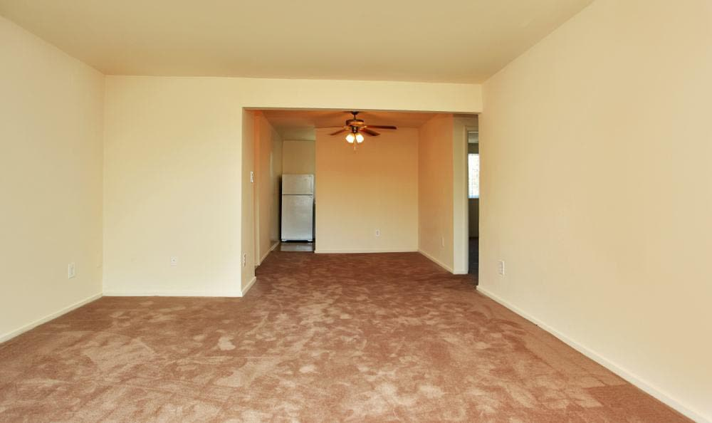 Apartment living room at Allentown Apartments in Suitland, MD.