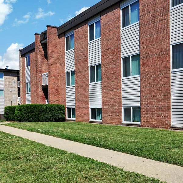 An exterior view of the apartments at Allentown Apartments