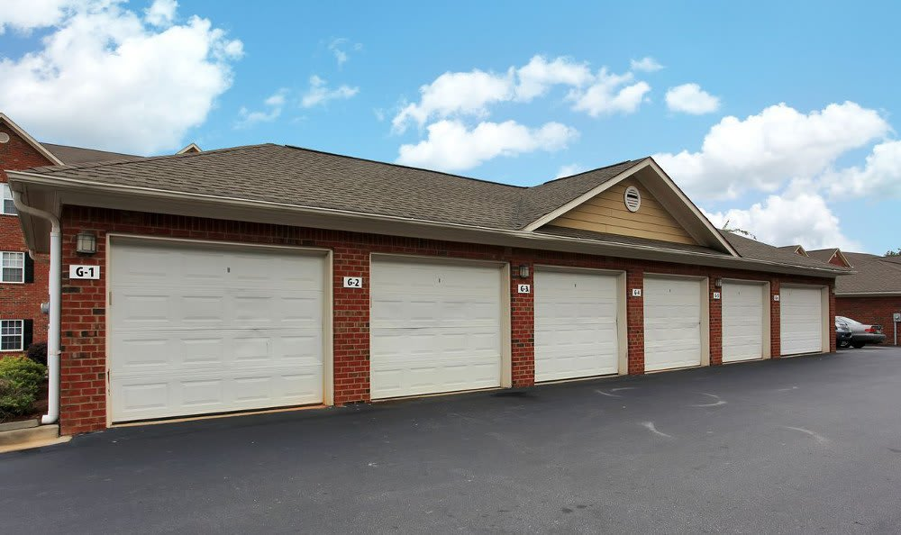 Garage Parking Available at Rocky Creek in Greenville, SC.