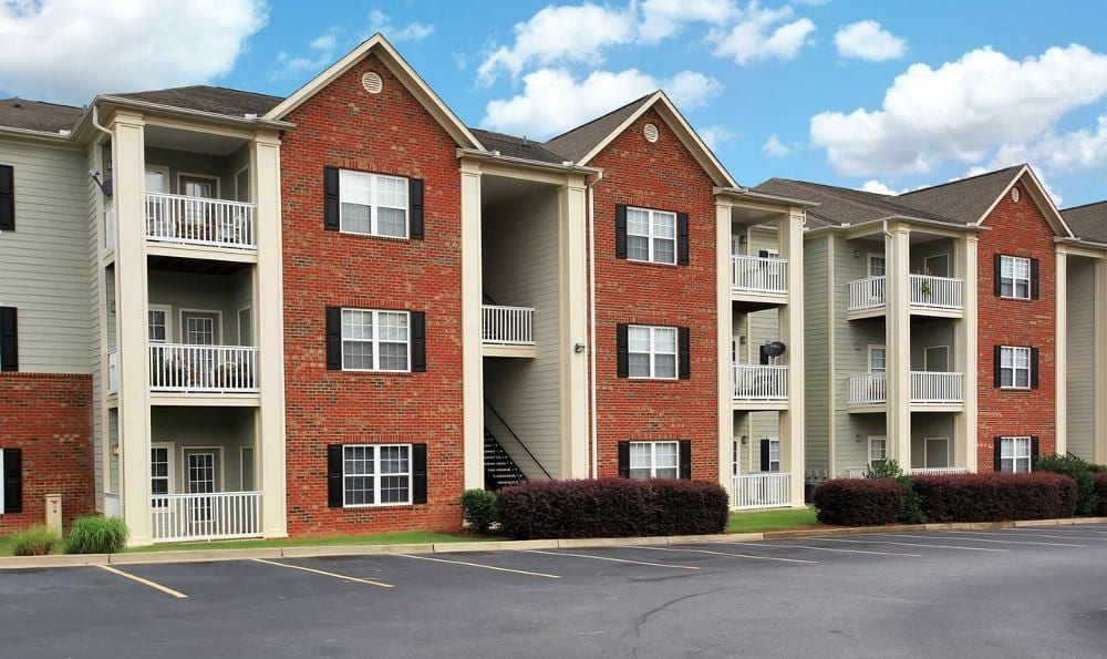 Apartment Parking at Rocky Creek in Greenville, SC.
