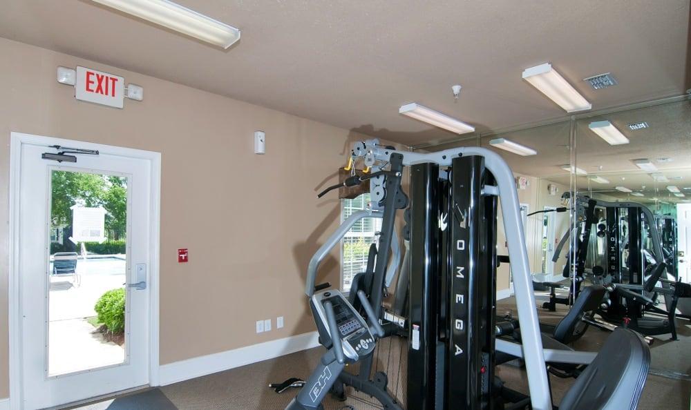 Weight Room At Magnolia Creste Apartments in Dallas, GA