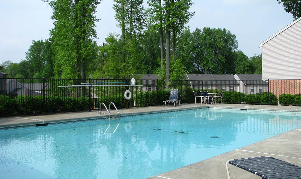 Take a dip in our sparkling swimming pool at Bethabara Pointe in Winston-Salem