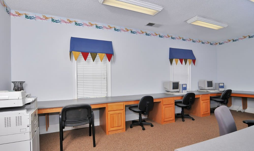 Business Center At Our Apartments In Lawrenceville, GA