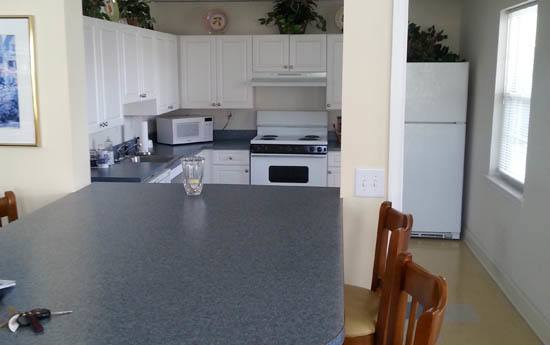 Updated kitchen at Glen Creek Apartments