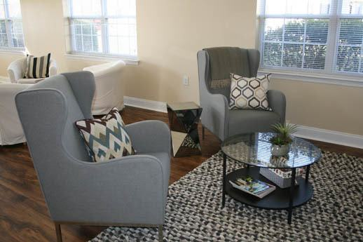 Spacious living rooms at Glen Creek Apartments in Elkton, MD