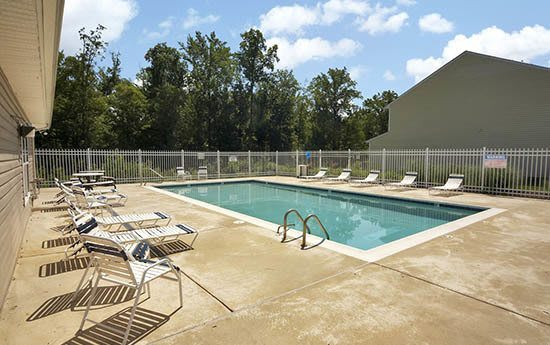 Beautiful pool at Broadwater Townhomes