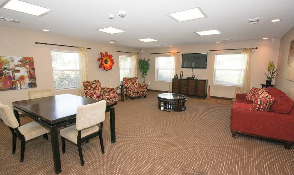 Community seating area at Villas at Lakewood
