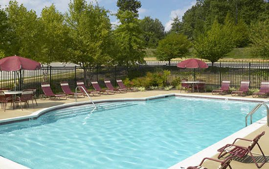 Pool at apartments in Woodbridge, VA
