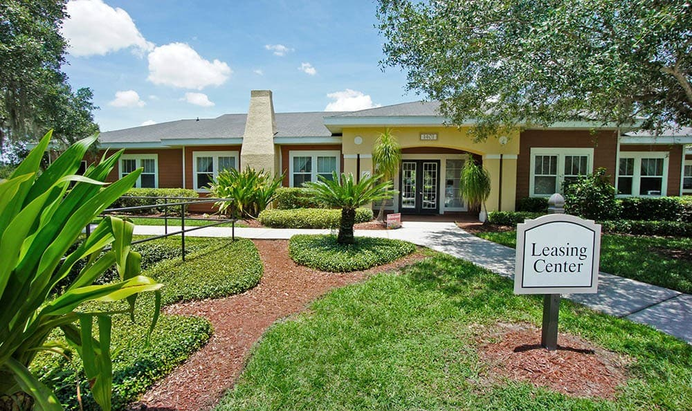 Grande Court Boggy Creek Leasing Office Entrance in Kissimmee, FL