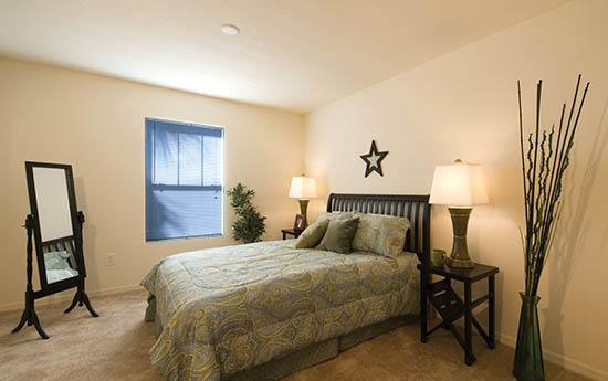 Bedroom at apartments in Kissimmee