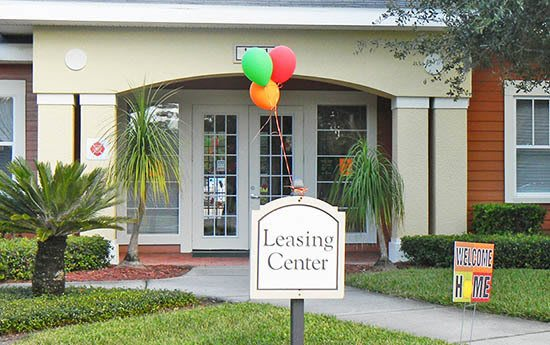 Leasing office at apartments in FL