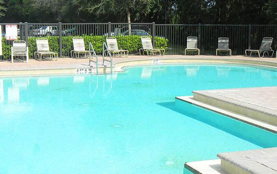 Pool at apartments in Kissimmee