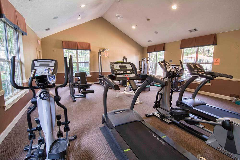 Work up a sweat in the fitness center of Chroma Park.