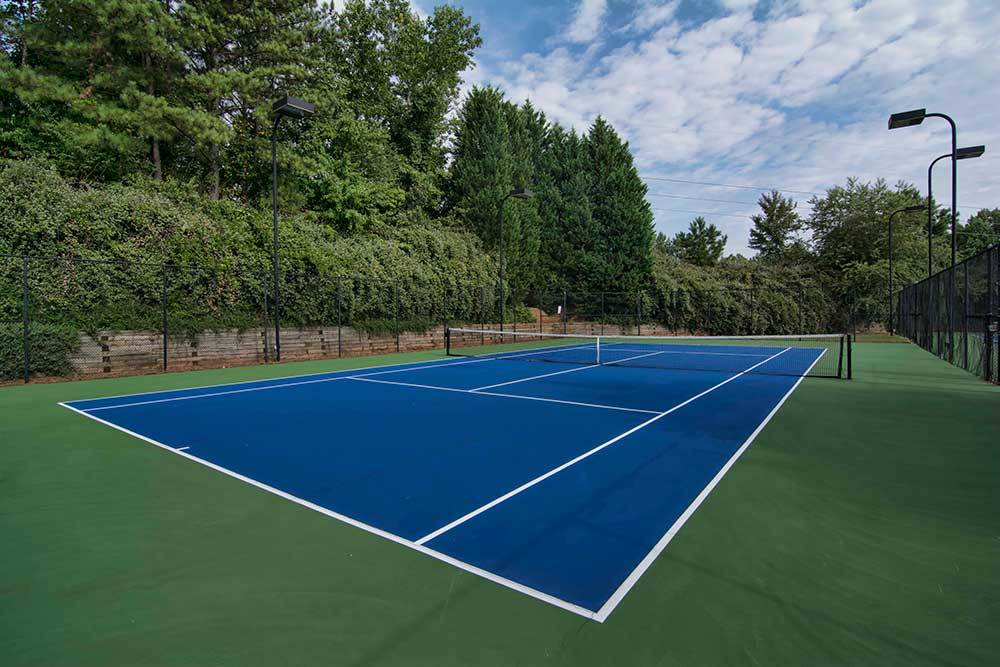 A tennis court is offered at Chroma Park.