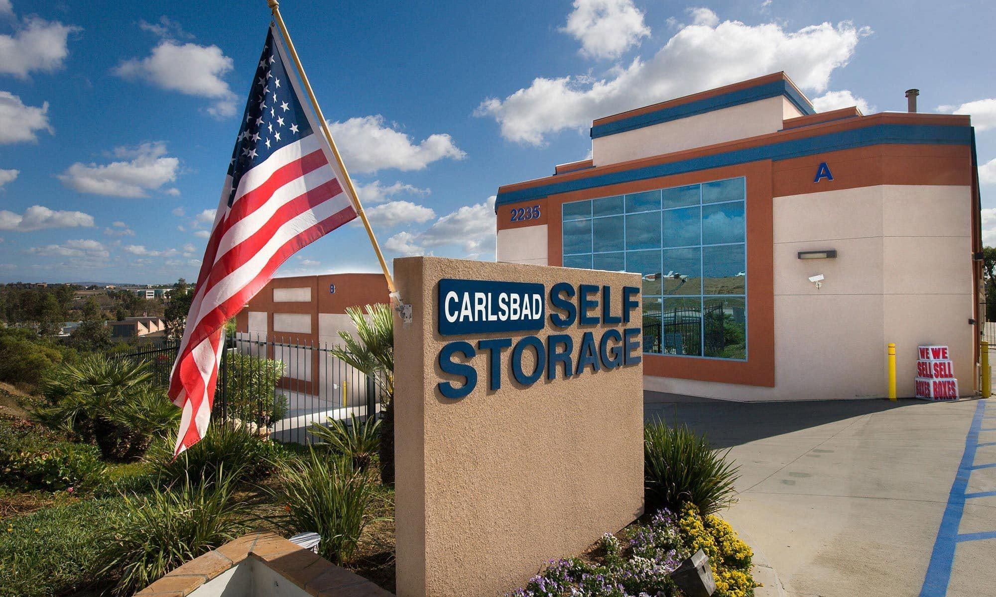 Self storage hero for Carlsbad
