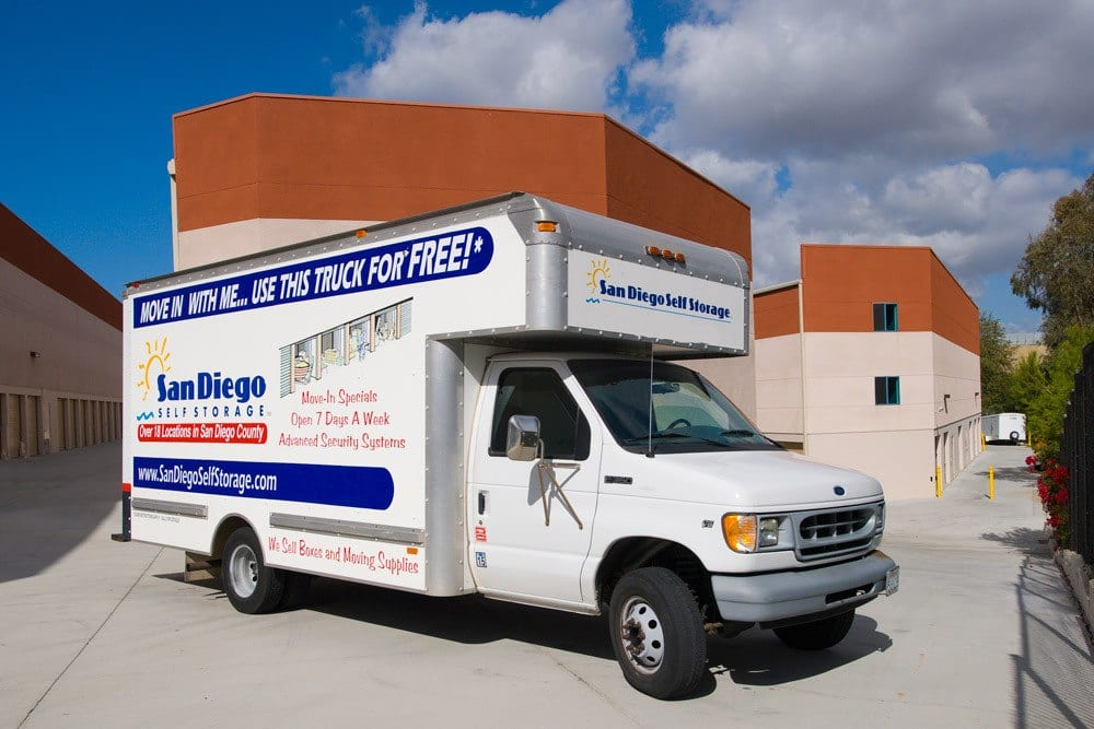 Free moving truck is available at Carlsbad Self Storage in Carlsbad, CA