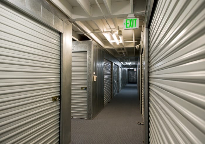Interior storage units at Sorrento Valley Self Storage in San Diego, CA