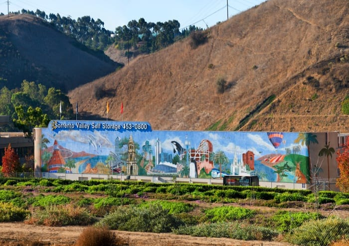 External view of the Mural at Sorrento Valley Self Storage