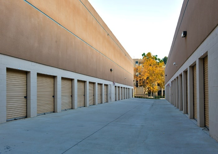 Exterior storage units at Sorrento Valley Self Storage in San Diego, CA