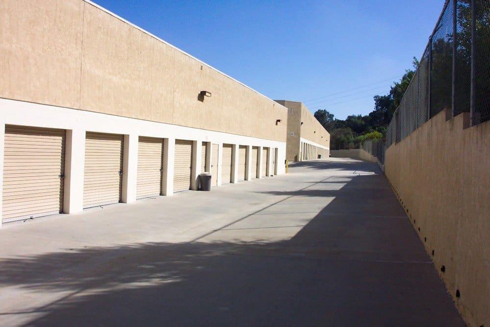 Easy to access storage units at Encinitas Self Storage in Encinitas, CA