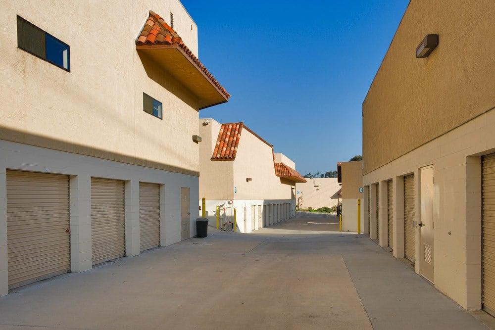 Large access driveways at Encinitas Self Storage in Encinitas, CA