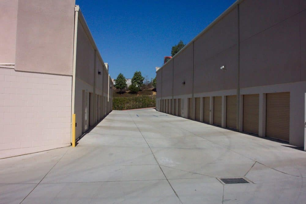 Drive up access at Golden Triangle Self Storage in San Diego, CA