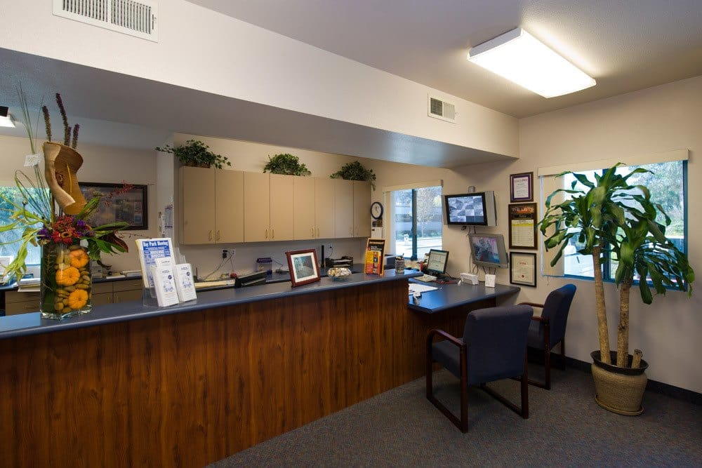 Front office at Golden Triangle Self Storage in San Diego, CA