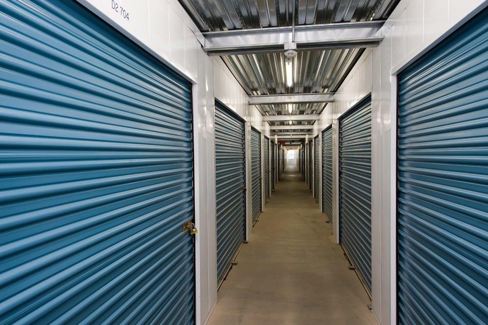 Interior hallway of Golden Triangle Self Storage