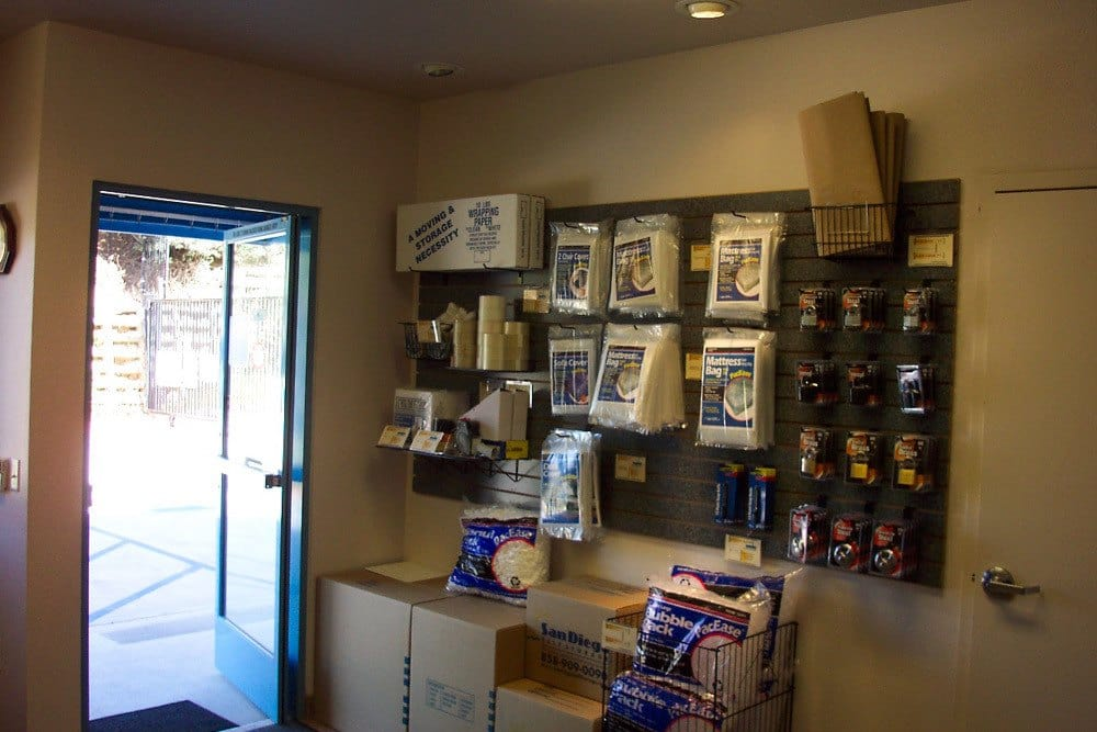 Moving supplies available at Golden Triangle Self Storage in San Diego, CA