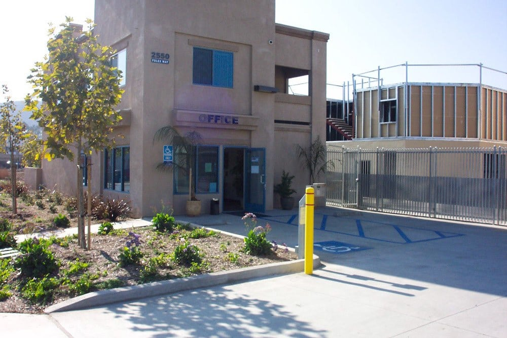 Front office and security gate at Jamacha Point Self Storage in Spring Valley, CA