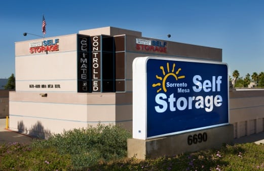 Sorrento Mesa Self Storage front of office