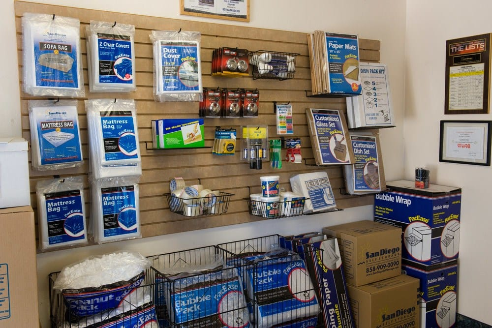 Mira Mesa Self Storage is a one-stop shop for all of your packing supplies.