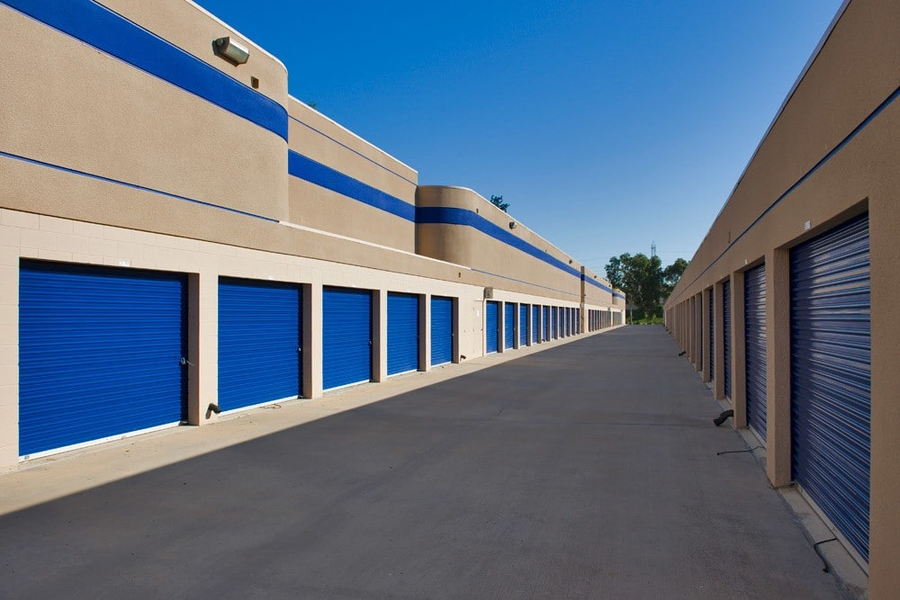 Exterior storage units at Mira Mesa Self Storage in San Diego, CA