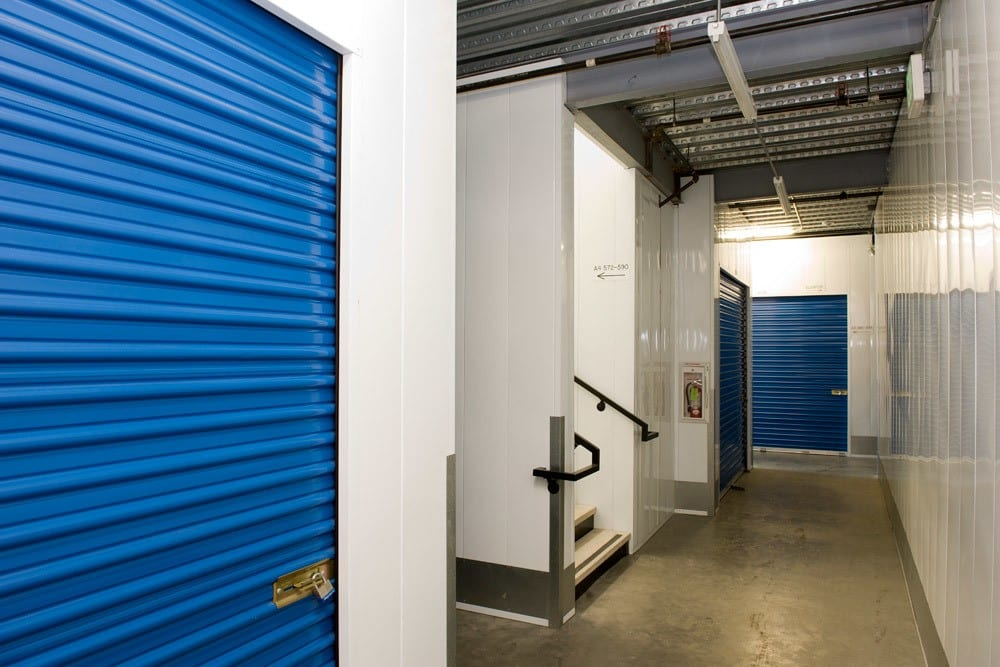 Interior units at National/54 Self Storage in National City, CA