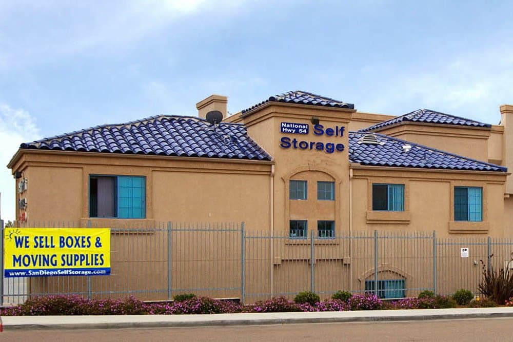 Clean and safe storage units at National/54 Self Storage in National City, CA