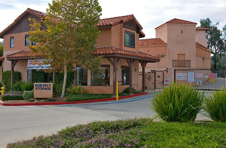 External view of our office here at North County Self Storage in Escondido.