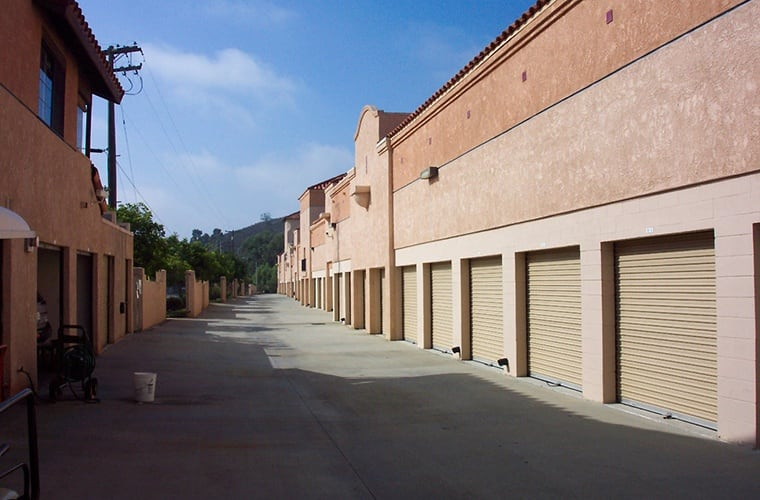 External view of some of our exterior units at North County Self Storage in Escondido.