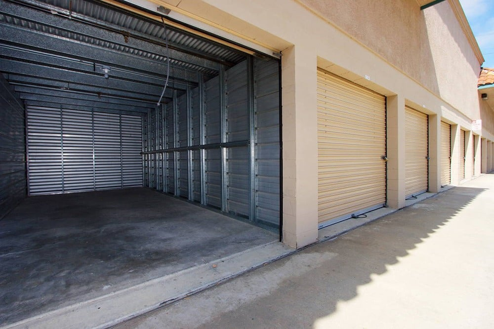 View of one of our exterior storage units at Olivenhain Self Storage in Encinitas.