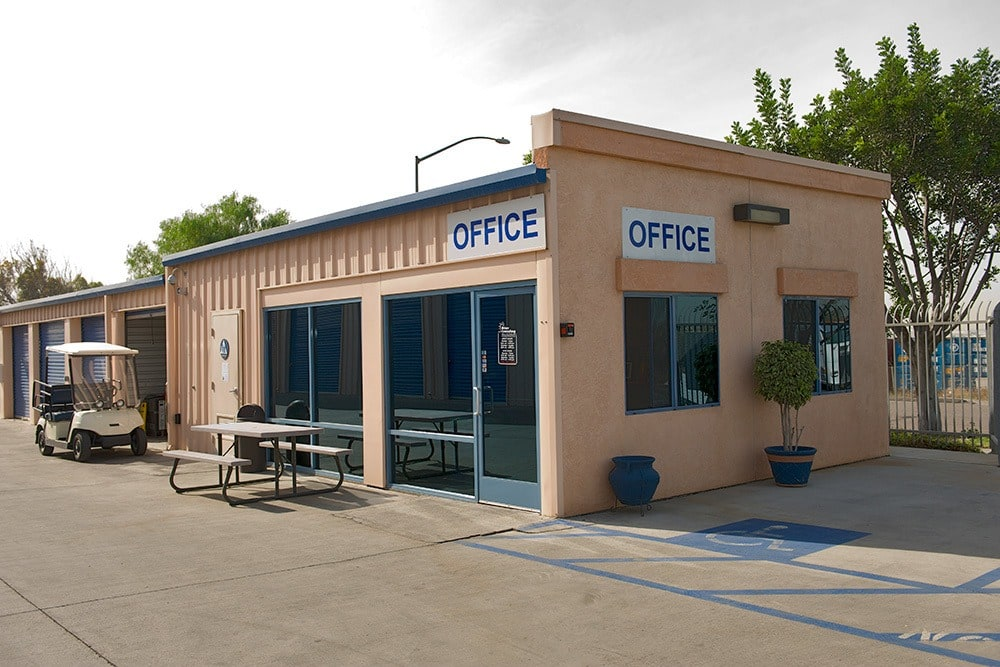 External view of the office at Otay Crossing Self Storage in San Diego, CA.
