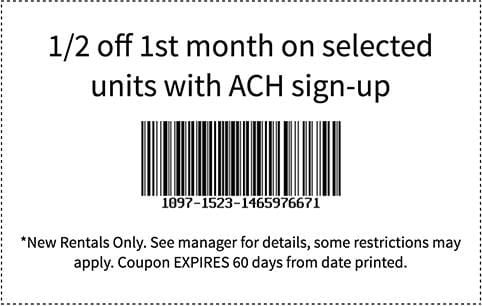 Coupon for Otay Crossing Self Storage