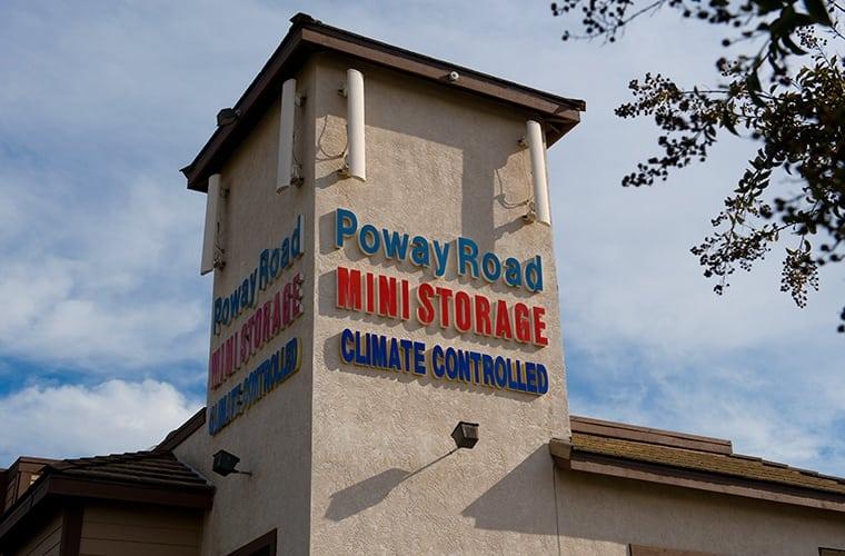External view of Poway Road Mini Storage in Poway.
