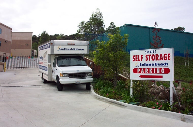 Free moving truck is available at Smart Self Storage of Solana Beach in Solana Beach, CA.